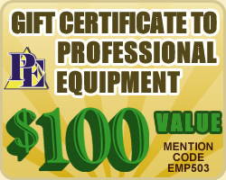 $100 Gift Certificate to ProfessionalEquipment.com