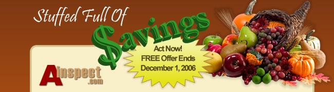 Stuffed Full Of Savings From Ainspect.com